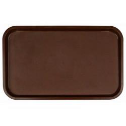 Поднос столовый из полипропилена 530x330 мм темно-коричневый - интернет-магазин КленМаркет.ру