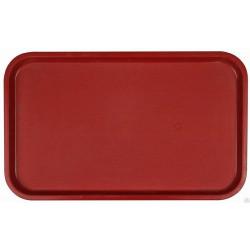 Поднос столовый из полипропилена 530x330 мм темно-красный - интернет-магазин КленМаркет.ру