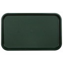 Поднос столовый из полипропилена 530x330 мм темно-зеленый - интернет-магазин КленМаркет.ру