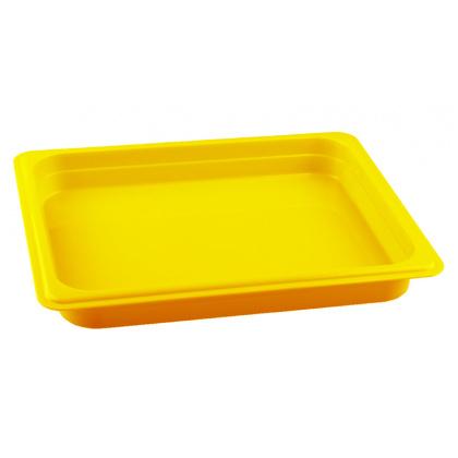 Гастроемкость из полипропилена без крышки GN 1/2 325х265х40 мм желтая [422109106] - интернет-магазин КленМаркет.ру