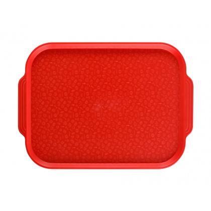Поднос столовый 450х355 мм с ручками красный - интернет-магазин КленМаркет.ру