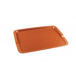 Поднос столовый из полипропилена 425х320 оранжевый - интернет-магазин КленМаркет.ру