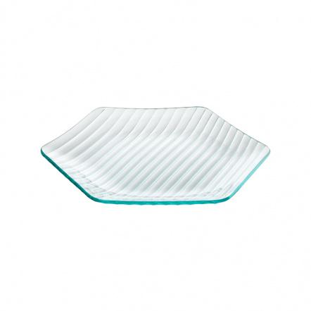 Тарелка шестиугольная «Corone Aqua» 270 мм