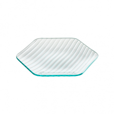 Тарелка шестиугольная «Corone Aqua» 220 мм