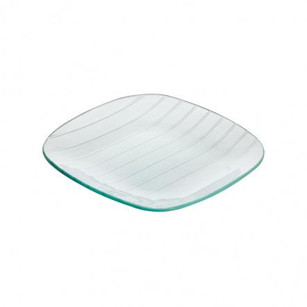 Тарелка квадратная с округлыми краями «Corone Aqua» 200 мм