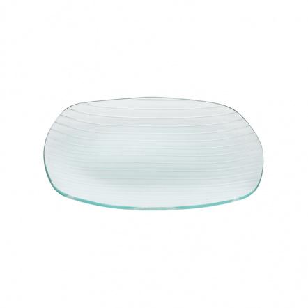 Тарелка квадратная с округлыми краями «Corone Aqua» 270 мм