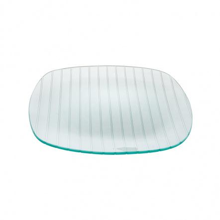 Тарелка квадратная с округлыми краями «Corone Aqua» 300 мм