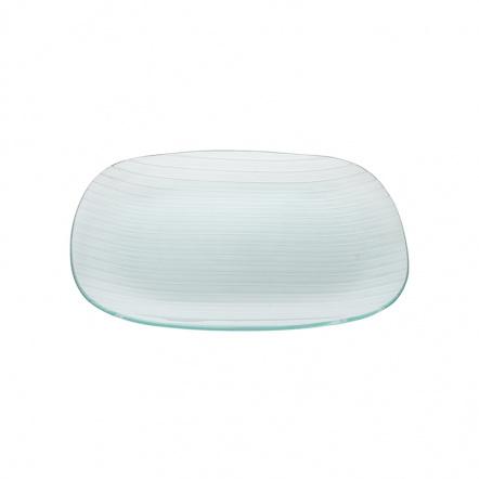 Тарелка квадратная с округлыми краями «Corone Aqua» 350 мм