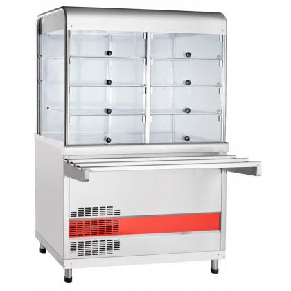 Прилавок-витрина холодильный ABAT «Аста» ПВВ-70КМ-С-НШ - интернет-магазин КленМаркет.ру