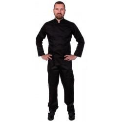 Куртка шеф-повара мужская длинный рукав спинка сетка черная [00013] - интернет-магазин КленМаркет.ру