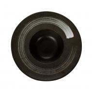 Тарелка для пасты «Corone» 230 мм черная с белым