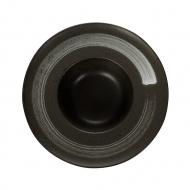 Тарелка для пасты «Corone» 252 мм черная с белым