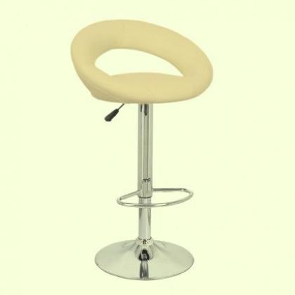 Барный стул «Мира» с мягким сиденьем (хромированный каркас) - интернет-магазин КленМаркет.ру