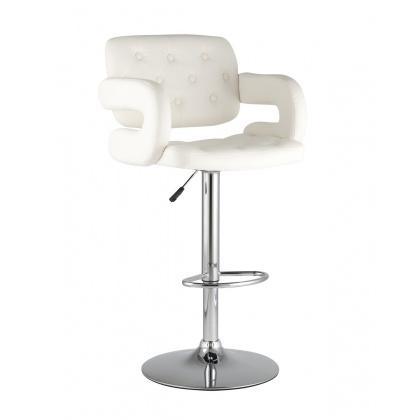 Стул барный «Бернгард» с мягким сиденьем (хромированный каркас) - интернет-магазин КленМаркет.ру