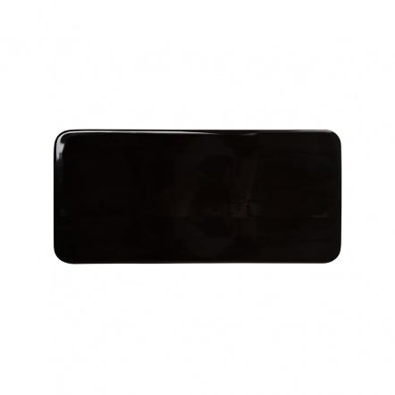 Блюдо прямоугольное плоское «Corone» 275х130 мм черное
