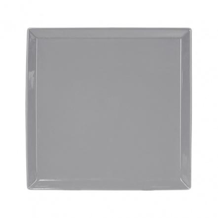 Тарелка квадратная «Corone» 275 мм серая