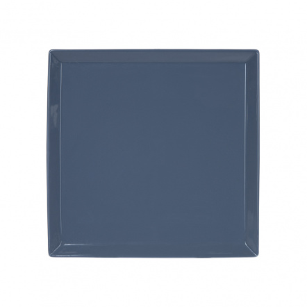 Тарелка квадратная «Corone» 240 мм синяя