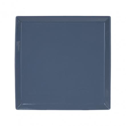 Тарелка квадратная «Corone» 275 мм синяя