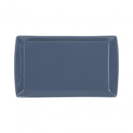 Блюдо прямоугольное «Corone» 352х230 мм синее