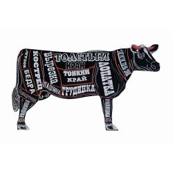 Меловая доска «Корова» 1180х700 мм с росписью - интернет-магазин КленМаркет.ру