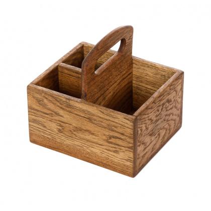 Ящик для сервировки 190х170 мм деревянный с ручкой - интернет-магазин КленМаркет.ру