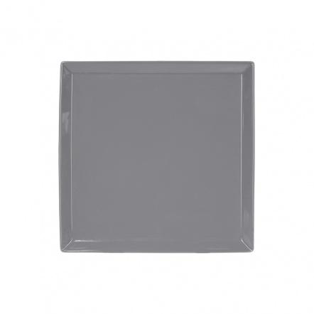 Тарелка квадратная «Corone» 200 мм серая