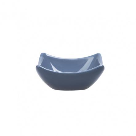Блюдце для соуса квадратное «Corone» 75 мм синее