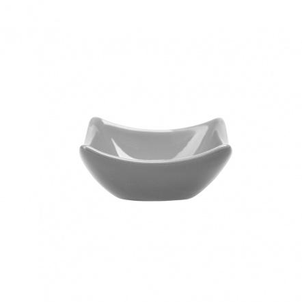 Блюдце для соуса квадратное «Corone» 75 мм серое