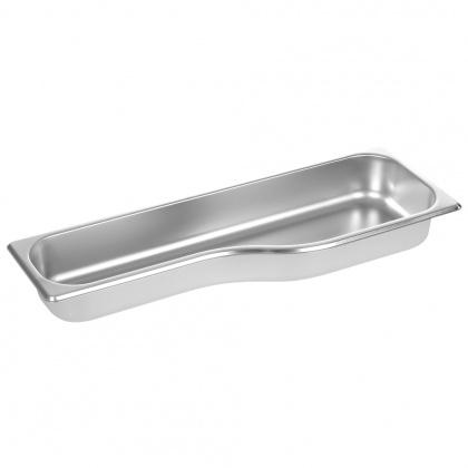 Гастроемкость Luxstahl из нержавеющей стали 530х180/135х65 мм для GN 1/1 [DB1165] - интернет-магазин КленМаркет.ру