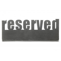 Табличка настольная «Reserved 2» Luxstahl 140х50 мм  - интернет-магазин КленМаркет.ру