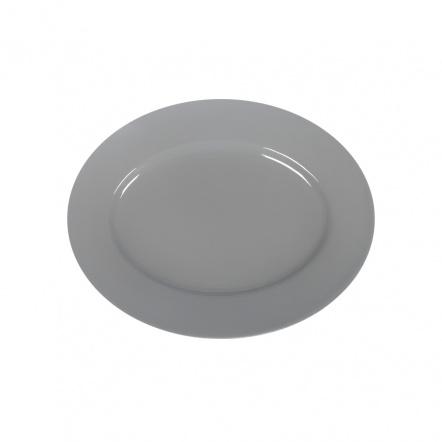 Блюдо овальное «Corone» 202х160 мм серое