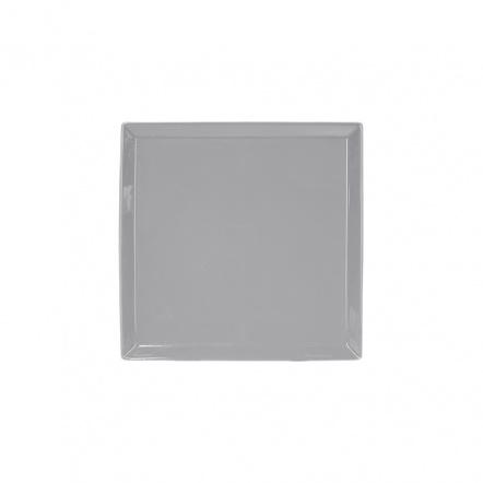Тарелка квадратная «Corone» 127 мм серая