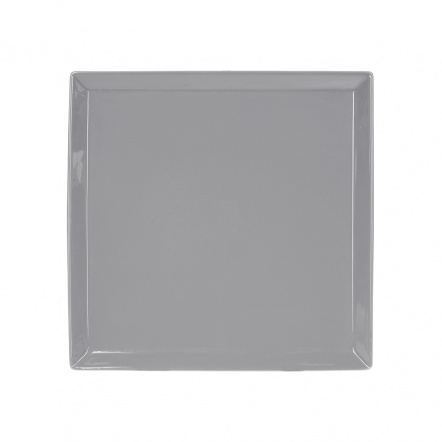 Тарелка квадратная «Corone» 240 мм серая