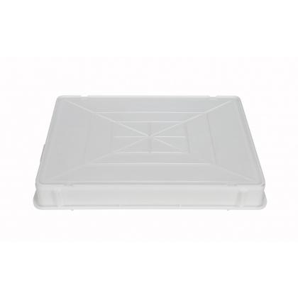 Лоток для теста 650х430х80 мм без крышки белый ПП  - интернет-магазин КленМаркет.ру