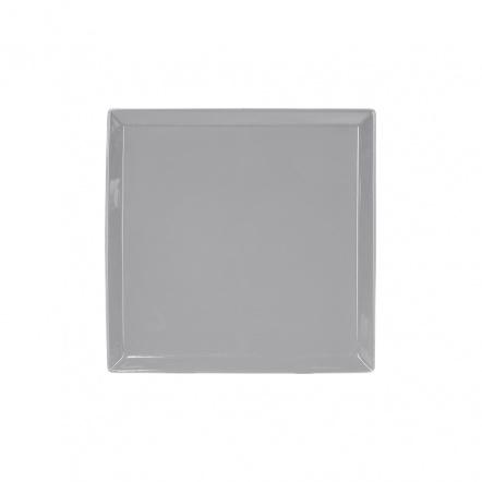 Тарелка квадратная «Corone» 169 мм серая