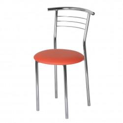 Стул «Амулет» с мягким сиденьем (хромированный каркас) - интернет-магазин КленМаркет.ру