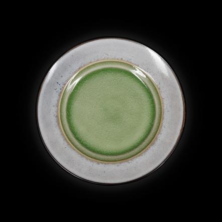 Тарелка мелкая декоративная «Corone Tesoro» 216 мм серый+зеленый