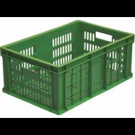 Ящик 600х400х250 мм перфорированные бока и дно, колбасный, ПЭНД [ЯК-253]