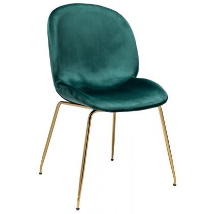 Стул «Тунис бархат» с мягким сиденьем (хромированный каркас) - интернет-магазин КленМаркет.ру