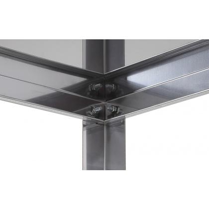 Стеллаж кухонный Luxstahl СР-1800х1200х400/4 нерж - интернет-магазин КленМаркет.ру