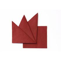 Салфетка бумажная бордовая 330х330 мм 300 шт