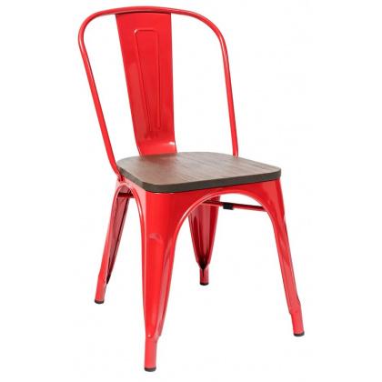 Стул TOLIX с деревянным сиденьем (окрашенный каркас) - интернет-магазин КленМаркет.ру