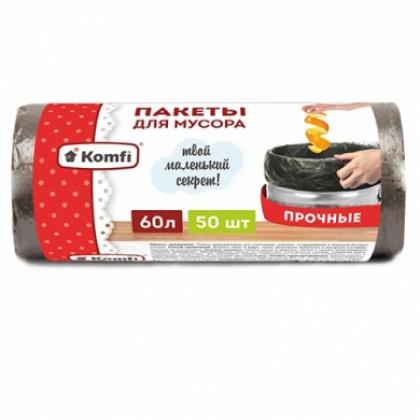 Пакет для мусора 60 л в рулонах, ПНД 60х70 см [PRO965C]  - интернет-магазин КленМаркет.ру