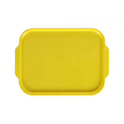 Поднос столовый 450х355 мм с ручками желтый - интернет-магазин КленМаркет.ру