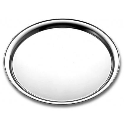 Поднос круглый Tramontina 300 мм нержавеющая сталь  [61413/300-TR] - интернет-магазин КленМаркет.ру