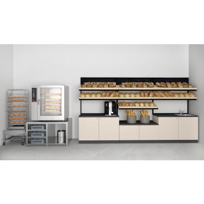 Стеллаж хлебный 3 полки 1200х600х2100 мм для пекарни - интернет-магазин КленМаркет.ру