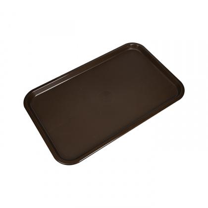 Поднос столовый 530х330 мм темно-коричневый полипропилен - интернет-магазин КленМаркет.ру
