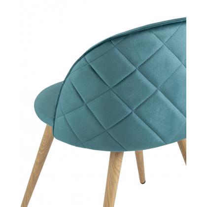 Стул «Ингрид NEW велюр с ромбами» с мягким сиденьем (ножки стальные) - интернет-магазин КленМаркет.ру