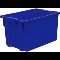 Ящик сплошной 600х400х350 мм, мясо-молочный, ПЭНД