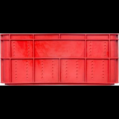 Ящик 600х400х250(260) мм перфорированные бока сплошное дно, колбасный, ПЭНД [ЯК-253] - интернет-магазин КленМаркет.ру